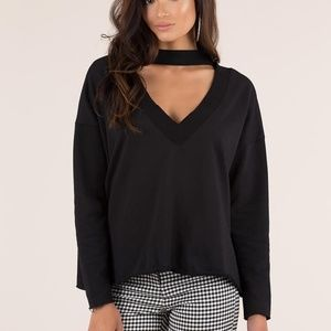 Black Choker Sweatshirt Size Large